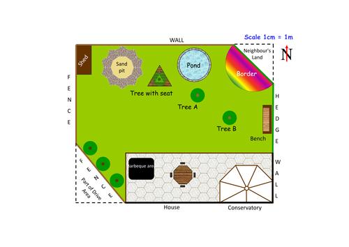 practical math garden design by clongmoor teaching resources tes - Garden Design Ks2
