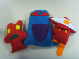 Ugly Dolls- Recycled Textiles