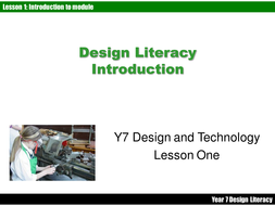 Design Literacy- Intro to KS3 D&T