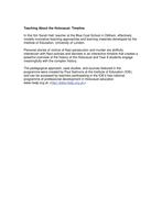 Teachers TV: Teaching About the Holocaust Timeline