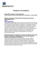 Teachers TV:Hearing Impairment in Mainstream-Rosie