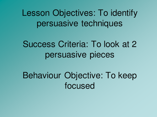 English Ks3 Advertising By Teach First Teaching