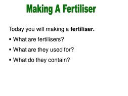 Making a fertiliser