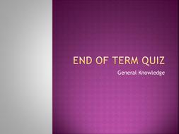 End of Term Team Quiz