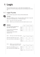 KS3 maths Logic (MEP – Year 7 – Unit 1)