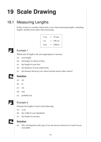 Printables Scale Drawing Worksheets ks3 scale drawing mep year 7 unit 19 by cimt teaching resources tes