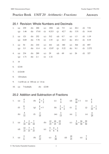 Suffix Able Worksheet Excel Fractions Mep  Year   Unit  By Cimt  Teaching Resources  Tes Pedigree Problems Worksheet with Synonym Worksheets For 3rd Grade Word  Human Body Printable Worksheets Excel