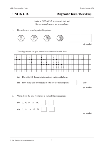 KS3 ASSESMENTS MEP Year 7 Diagnostic Tests by CIMT  Teaching