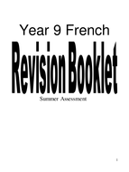 9 French Summer Revision Booklet