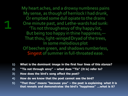 Nightingale by John Keats: Powerpoint Presentation