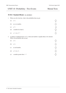 KS3 Probability of Two Events (Year 8 - Unit 10) by CIMT ...