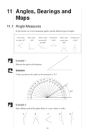 KS3 Angles, Bearings & Maps (Year 8 – Unit 11)