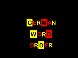 Word Order - notes & exercises