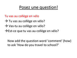 Posez une question by CombertonVillageCollege - Teaching Resources - Tes c7bbd45a26d8