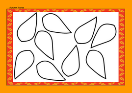 autumn leaves template by lbrowne teaching resources tes
