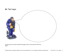 Yr 3 Narrative Unit 5A Dialogue and Plays: The Twits by