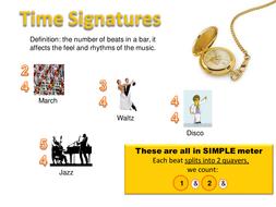 Time Signatures: Simple Compound duple triple quad