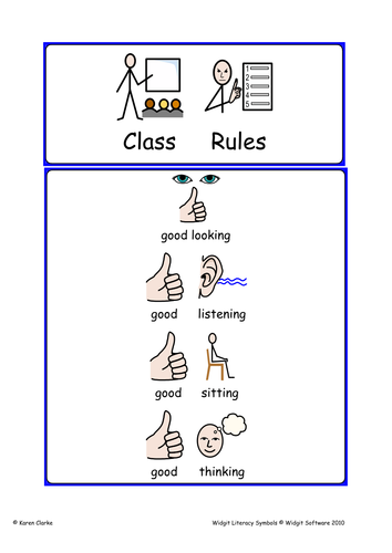 Modern Classroom Rules : Widgit class rules by mrs moonstone teaching resources