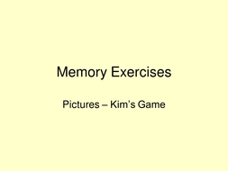 Kim\'s Game - visual memory exercises - SEN by colleenpearson ...