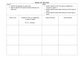 Day 1 activity recording sheet with WALT & WILF.doc
