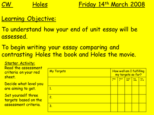 holes by louis sachar lesson plan and activities by teach first holes by louis sachar lesson plan and activities by teach first teaching resources tes