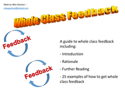 The Whole Class Feedback Guide