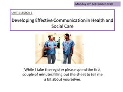 Introduction into effective communication UNIT 1