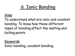 Ionic Bonding Powerpoint And Worksheet Teaching Resources
