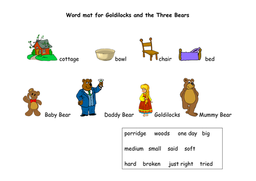 goldilocks and the three bears pdf