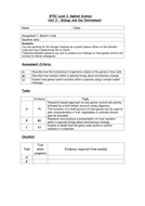 BTec 2010 assignment sheets for Biology unit