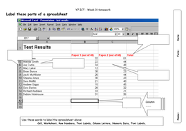 Homework sheet - label the spreadsheet by candobetter | Teaching ...