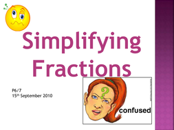 Simplifying Fractions Presentation