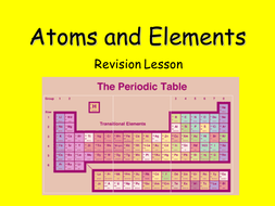 atoms and elements revision lessonppt - Periodic Table Lesson Ppt