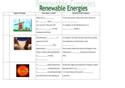 renewable energy resource worksheets differentia resources tes. Black Bedroom Furniture Sets. Home Design Ideas