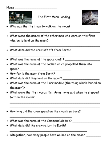 moon landing mythbusters worksheet - photo #43