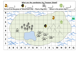 Co Ordinates Treasure Map Ks1 By Mrdhenshaw Teaching Resources Tes