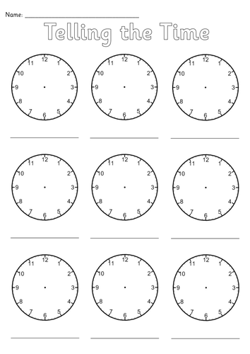 blank clocks worksheet by simon h teaching resources tes. Black Bedroom Furniture Sets. Home Design Ideas
