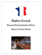 Higher French Directed Writing
