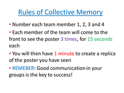 Collective Memory - Angle Facts - Game