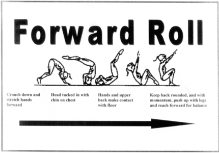Forward/Backward roll reciprocal teaching cards by