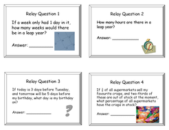 Maths Relay Races (Problem-solving Puzzles)