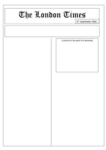 Newspaper Template Ks3 Gallery Template Design Free Download