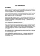 Unit 1 Public Services (BTEC level 2)