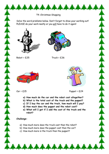 Number Names Worksheets : christmas addition and subtraction ...