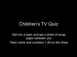 End of term christmas quizzes