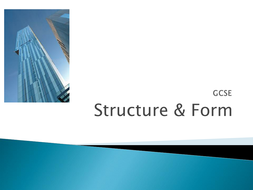 AQA GCSE 'Structure & Form' Powerpoint