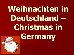 powerpoint about german christmas traditions