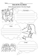 Jesus and Zacchaeus worksheet