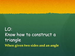 constructing a triangleppt