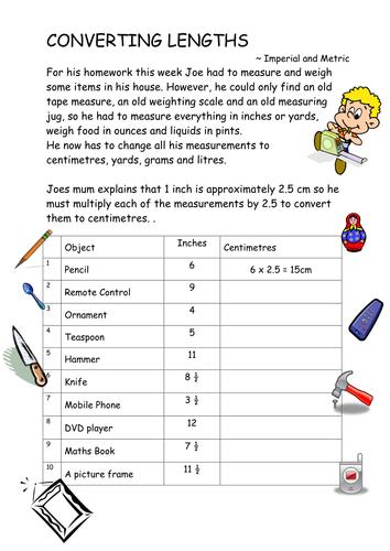 Converting Measurements Ks3 Worksheets By Tackleberi